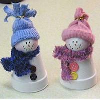 Claypot Snowmen
